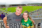 Mike Nagle and Sarah Nagle (Rathmore) pictured at the Kerry v Cork Munster Final in Fitzgerald Stadium, Killarney on Saturday evening.