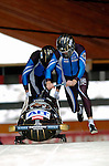 19 November 2005: Wolfgang Stampfer pilots the Austria 1 sled to a 7th place finish at the 2005 FIBT AIT World Cup Men's 2-Man Bobsleigh Tour at the Verizon Sports Complex, in Lake Placid, NY. Mandatory Photo Credit: Ed Wolfstein.