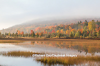 64776-01418 Pond and fall color Alger County Upper Peninsula Michigan