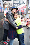 Anthony Rosenthal with his mom and Laura Heywood, aka @BroadwayGirlNYC, attends Big Hug Day: Broadway comes together to spread kindness and raise funds for Children's Hospitals on January 21, 2018 at Duffy Square, Times Square in New York City.