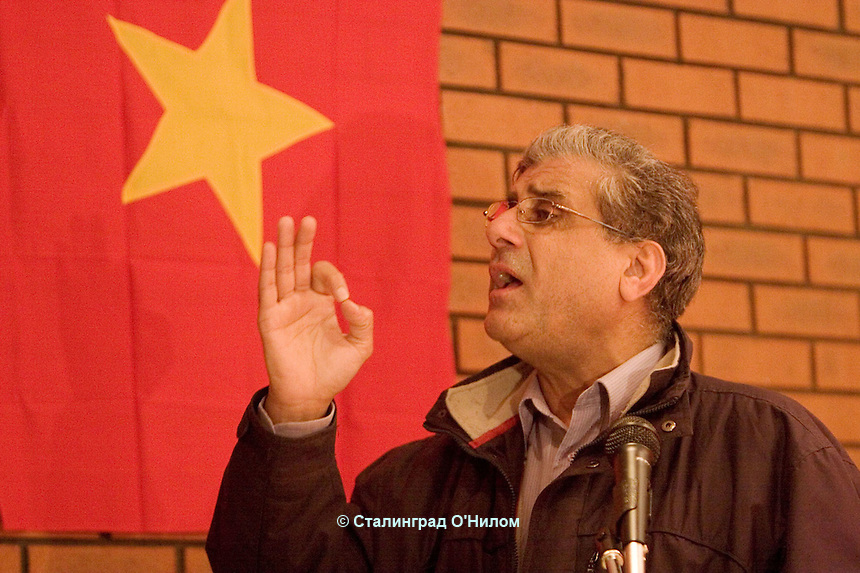 October Revolution Celebration, Saklatvala Hall, Dominion Road, Southall, 7th Nov 09.By agreement with client:CPGB-ML and their political associates..