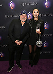 """Frank Wildhorn and Yoka Wao attending the Broadway Opening Night Performance of  """"Rocktopia"""" at The Broadway Theatre on March 27, 2018 in New York City."""