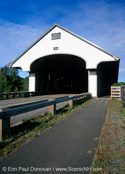 Smith Covered Bridge. Crosses the Baker  River.Located in Plymouth, New Hampshire, USA..