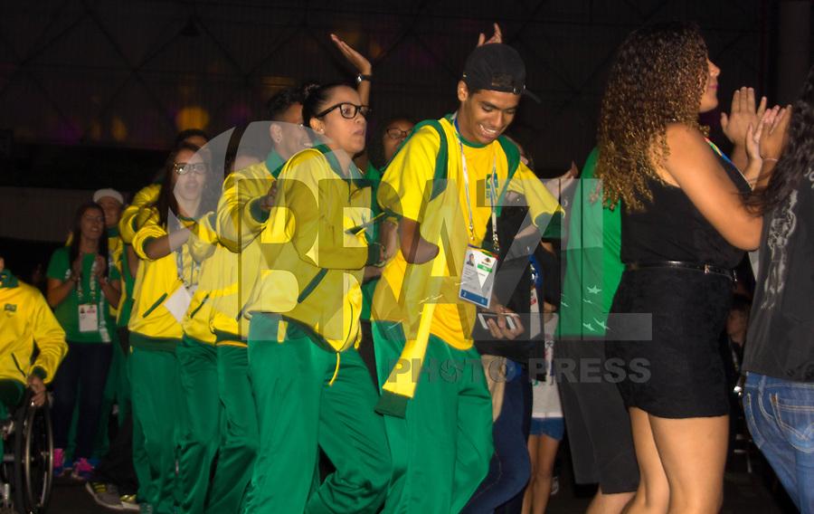 SÃO PAULO,SP, 20.03.2017 - PARAPAN-JUVENTUDE -  Cerimônia de abertura dos jogos, Parapan da Juventude 2017 em São Paulo, no centro de exposições anhembi que é localizado na região norte de São Paulo, nesta segunda-feira, 20.(Foto: Danilo Fernandes/Brazil Photo Press)