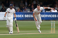 Peter Siddle in bowling action for Essex during Essex CCC vs Yorkshire CCC, Specsavers County Championship Division 1 Cricket at The Cloudfm County Ground on 7th July 2019