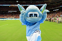 Houston, TX - Thursday July 20, 2017: The Manchester City Mascot during a match between Manchester United and Manchester City in the 2017 International Champions Cup at NRG Stadium.