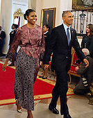 United States President Barack Obama and first lady Michelle Obama arrive to present  Presidential Medal of Freedom, the Nation's highest civilian honor at a ceremony in the East Room of the White House in Washington, DC on Tuesday, November 22, 2016.<br /> Credit: Ron Sachs / CNP
