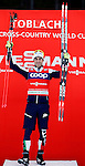 FIS Cross Country Ski World Cup Sprint race in Dobbiaco, Toblach, on December 19, 2015. Italy's Federico Pellegrino wins the men race. Ingvild Flugstad Oestberg (NOR) wins the ladies race.   Credit: Pierre Teyssot