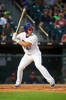 Buffalo Bisons catcher Erik Kratz (40) at bat during a game against the Lehigh Valley IronPigs on August 29, 2016 at Coca-Cola Field in Buffalo, New York.  Buffalo defeated Lehigh Valley 3-2.  (Mike Janes/Four Seam Images)