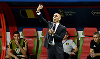 KAZAN - RUSIA, 06-07-2018: Roberto MARTINEZ técnico de Bélgica durante partido de cuartos de final contra de Brasil Copa Mundial de la FIFA Rusia 2018 jugado en el estadio Kazan Arena en Kazán, Rusia. / Roberto MARTINEZ coach of Belgium during match against Brazil of quarter final for the FIFA World Cup Russia 2018 played at Kazan Arena stadium in Kazan, Russia. Photo: VizzorImage / Julian Medina / Cont