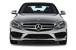 Car photography straight front view of a 2018 Mercedes Benz C-Class C300 Sport 4 Door Sedan Front View