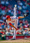 14 April 2018: Washington Nationals pitcher Ryan Madson on the mound in the 8th inning against the Colorado Rockies at Nationals Park in Washington, DC. The Nationals rallied to defeat the Rockies 6-2 in the 3rd game of their 4-game series. Mandatory Credit: Ed Wolfstein Photo *** RAW (NEF) Image File Available ***