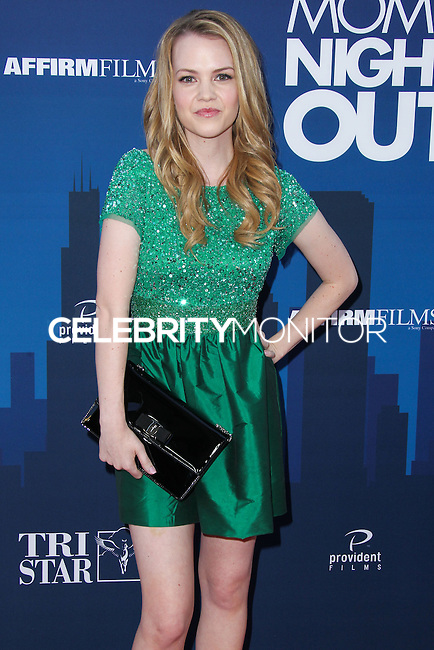 "HOLLYWOOD, LOS ANGELES, CA, USA - APRIL 29: Abbie Cobb at the Los Angeles Premiere Of TriStar Pictures' ""Mom's Night Out"" held at the TCL Chinese Theatre IMAX on April 29, 2014 in Hollywood, Los Angeles, California, United States. (Photo by Xavier Collin/Celebrity Monitor)"