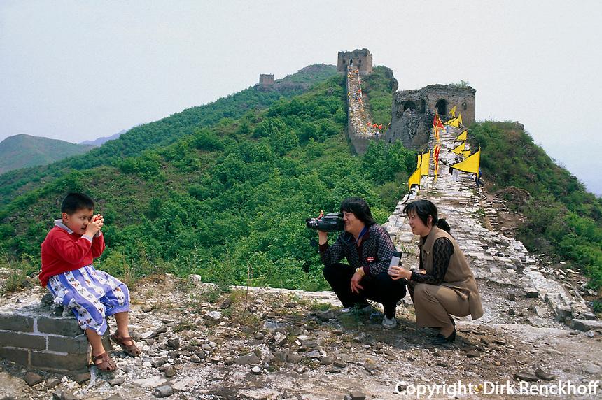 Große Mauer (Chang Cheng) bei Simatei nahe Peking, China, Unesco Weltkulturerbe