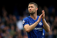 Gary Cahill of Chelsea applauds the home fans as he walks around the pitch after the game during Chelsea vs Watford, Premier League Football at Stamford Bridge on 5th May 2019