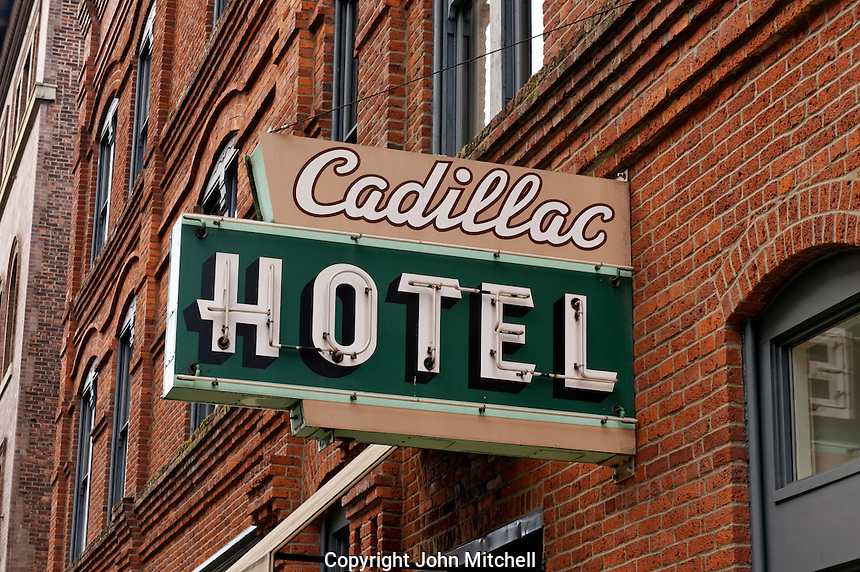 Historic Cadillac Hotel in the Pioneer Square historical district, Seattle, Washington, USA