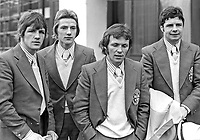N Ireland boxing team members for 1974 Commonwealth Games:- (left to right) Ray Heaney, Gerry Hamill, Davy Larmour and Davy Campbell. 197401090016c.<br /> <br /> Copyright Image from Victor Patterson, 54 Dorchester Park, Belfast, UK, BT9 6RJ<br /> <br /> t: +44 28 90661296<br /> m: +44 7802 353836<br /> vm: +44 20 88167153<br /> e1: victorpatterson@me.com<br /> e2: victorpatterson@gmail.com<br /> <br /> For my Terms and Conditions of Use go to www.victorpatterson.com