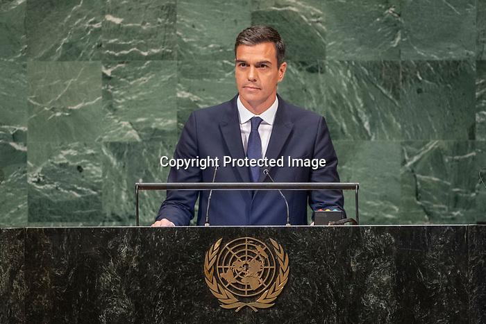LOS general debate – 27 September<br /> <br /> PM<br /> <br /> His Excellency Pedro SANCHEZ PEREZ-CASTEJON President of the Government of Spain