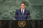 LOS general debate – 27 September<br /> <br /> PM<br /> <br /> His Excellency Pedro SANCHEZ PEREZ-CASTEJON President of the Government of Spain