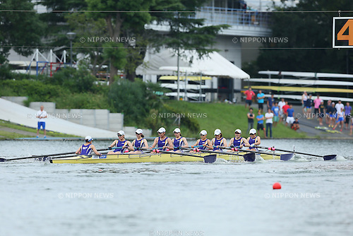 , SEPTEMBER 13, 2015 - Rowing : All Japan Rowing Championships, Women's eight final at the Toda Olympic Rowing Course, Saitama, Japan. (Photo by Yohei Osada/AFLO SPORT)