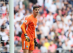 Chelsea's Thibaut Courtois in action during the premier league match at the Wembley Stadium, London. Picture date 20th August 2017. Picture credit should read: David Klein/Sportimage