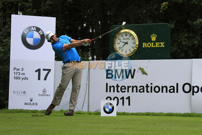 Pablo Larrazabal (ESP) in action on the 17th tee during Day 1 of the BMW International Open at Golf Club Munchen Eichenried, Germany, 23rd June 2011 (Photo Eoin Clarke/www.golffile.ie)