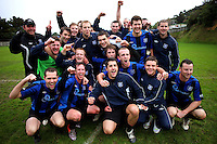 Miramar Rangers celebrates making the final. Chatham Cup football - Miramar Rangers v Wellington United at David Farrington Park, Wellington on Sunday, 25 July 2010. Photo: Dave Lintott/lintottphoto.co.nz.