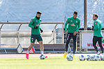 12.03.2020, Trainingsgelaende am wohninvest WESERSTADION,, Bremen, GER, 1.FBL, Werder Bremen Training, im Bild<br /> <br /> <br /> Milot Rashica (Werder Bremen #07)<br /> Davie Selke (Neuzugang SV Werder Bremen #09)<br /> Philipp Bargfrede (Werder Bremen #44)<br /> <br /> Foto © nordphoto / Kokenge