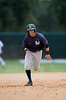 GCL Yankees West second baseman Matt Pita (16) runs the bases during the second game of a doubleheader against the GCL Braves on July 30, 2018 at Champion Stadium in Kissimmee, Florida.  GCL Braves defeated GCL Yankees West 5-4.  (Mike Janes/Four Seam Images)