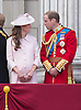 KATE AND PRINCE WILLIAM<br /> appear on the balcony of Buckingham Palace to watch the Royal Air Force Flypast as part of the Trooping of the Colour, London_15th June 2013<br /> The annual event marks the Queen's Official Birthday.<br /> Photo Credit: &copy;Dias/NEWSPIX INTERNATIONAL<br /> <br /> **ALL FEES PAYABLE TO: &quot;NEWSPIX INTERNATIONAL&quot;**<br /> <br /> PHOTO CREDIT MANDATORY!!: NEWSPIX INTERNATIONAL<br /> <br /> IMMEDIATE CONFIRMATION OF USAGE REQUIRED:<br /> Newspix International, 31 Chinnery Hill, Bishop's Stortford, ENGLAND CM23 3PS<br /> Tel:+441279 324672  ; Fax: +441279656877<br /> Mobile:  0777568 1153<br /> e-mail: info@newspixinternational.co.uk