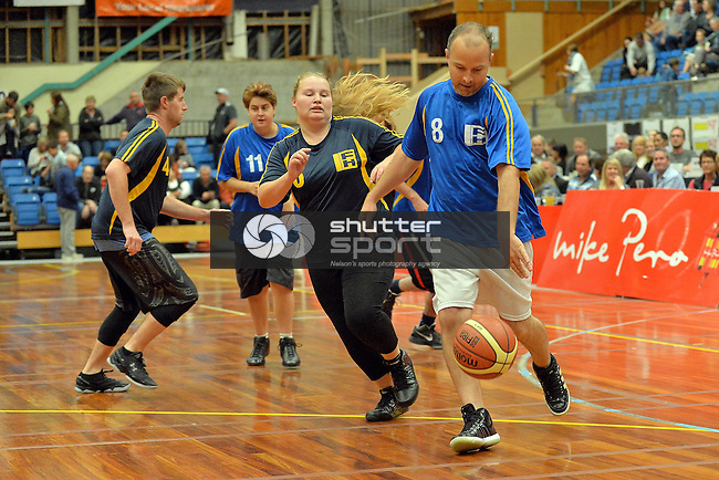 NELSON, NEW ZEALAND - APRIL 16: Nelson Giants v Super City Rangers at the Trafalgar Centre on April 16, 2016 in Nelson, New Zealand. (Photo by: Barry Whitnall/Shuttersport Limited)