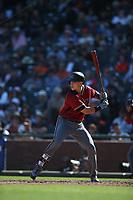 SAN FRANCISCO, CA - SEPTEMBER 17:  Jake Lamb #22 of the Arizona Diamondbacks bats against the San Francisco Giants during the game at AT&T Park on Sunday, September 17, 2017 in San Francisco, California. (Photo by Brad Mangin)