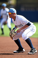 Charlotte Stone Crabs first baseman Jake Bauers (23) during a game against the Daytona Tortugas on April 14, 2015 at Charlotte Sports Park in Port Charlotte, Florida.  Charlotte defeated Daytona 2-0.  (Mike Janes/Four Seam Images)
