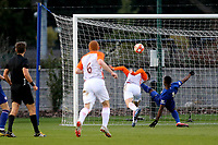 Somehow Montpellier miss a great opportunity to open the scoring during Chelsea Under-19 vs Montpellier HSC Under-19, UEFA Youth League Football at the Cobham Training Ground on 13th March 2019