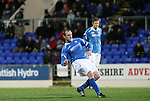 St Johnstone v Hibernian...26.11.11   SPL .Dave Mackay scores from a free kick to make it 3-1.Picture by Graeme Hart..Copyright Perthshire Picture Agency.Tel: 01738 623350  Mobile: 07990 594431