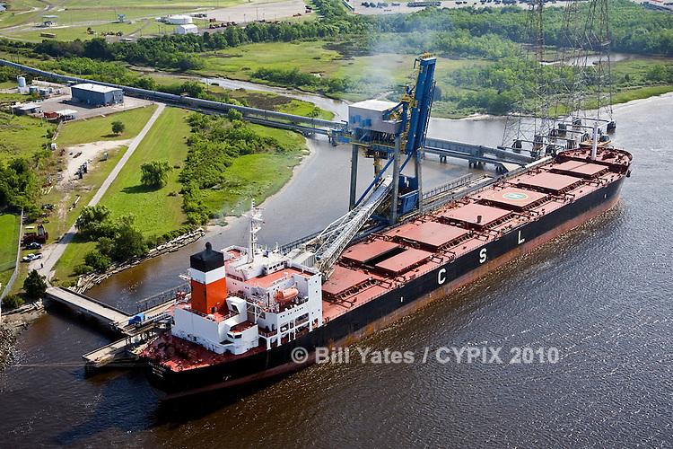 CSL Argosy at JaxPort Blount Island Terminal discharging coal for JEA's (Jacksonville Electric Authority) St. Johns River Power Park