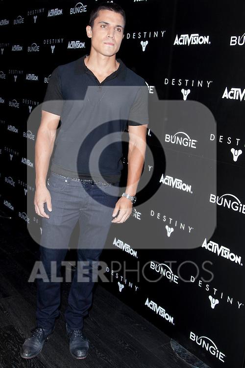 Spanish actor Alex Gonzalez presents the video game: 'Destiny' at A-CERO Studio in Madrid. September 08, 2014. (ALTERPHOTOS / Nacho Lopez)