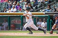 Gary Brown (15) of the Salt Lake Bees at bat against the Reno Aces in Pacific Coast League action at Smith's Ballpark on May 10, 2015 in Salt Lake City, Utah.  Salt Lake defeated Reno 9-2 in Game One of the double-header.  (Stephen Smith/Four Seam Images)