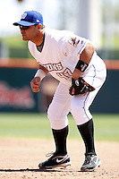 May 21, 2009:  First Baseman Javier Valentin of the Buffalo Bisons, International League Triple-A affiliate of the New York Mets, during a game at Coca-Cola Field in Buffalo, NY.  Photo by:  Mike Janes/Four Seam Images