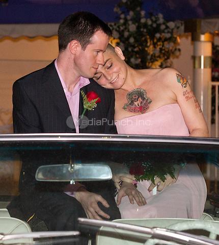 Sinead O'Connor marries Barry Herridge on her 45th Birthday at 'A Little White Wedding Chapel' drive-thru in Las Vegas, NV on December 8, 2011. Erik Kabik / MediaPunch.