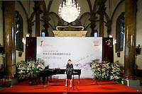 Korean soprano Sumi Jo during the press conference previous a concert at the Wangfujing church as part of the UBS Beijing Music Festival on 9 October 2011. Photo by Mike Pickles / studioEAST.