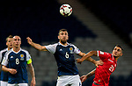 Scotlands James McArthur and Malta's Stephen Pisani compete for the ball during the World Cup Qualifying Group F match at Hampden Park Stadium, Glasgow. Picture date 4th September 2017. Picture credit should read: Craig Watson/Sportimage