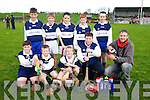 Allianz Cumann na mBunscol Hurling Finals at Abbeydorney GAA on Monday.Pictured Kilmurry N S - Front l-r Jason Camilin, Jack O'Connell, Taylor Griffin, Keith McElligott, Coach Padraig Regan, Back l-r  Sean Sheehan, Corey Griffin O'Mahony, Kian Fitzpatrick, Dylan Murphy, Gearoid Kruger