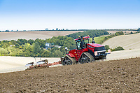 Ploughing OSR stubble - Lincolnshire, August