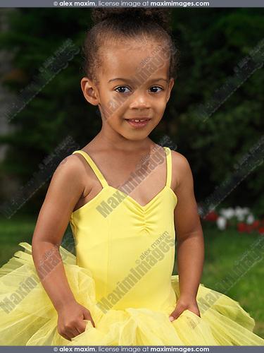 4cc02c941c8b Portrait of a cute girl in tutu dress