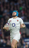 Twickenham, United Kingdom.     <br /> Italy Appeal. Jack NOWELL is called back, during the  6 Nations International Rugby Match, England vs Italy at the RFU Stadium, Twickenham, England, <br /> <br /> Sunday  26/02/2017<br /> <br /> [Mandatory Credit; Peter Spurrier/Intersport-images]