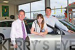 OPEN NIGHT: The Kerry Rose for 2011 Si?le Ni? Dheargain at the Renault Rendezvous open night Adam of Tralee on Thursday l-r: Mike Geoghegan (director), Kerry Rose Si?le Ni? Dheargain and Denis Adams (director).