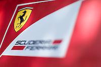 March 14, 2014: Signage at the Scuderia Ferrari team garage at the 2014 Australian Formula One Grand Prix at Albert Park, Melbourne, Australia. Photo Sydney Low.