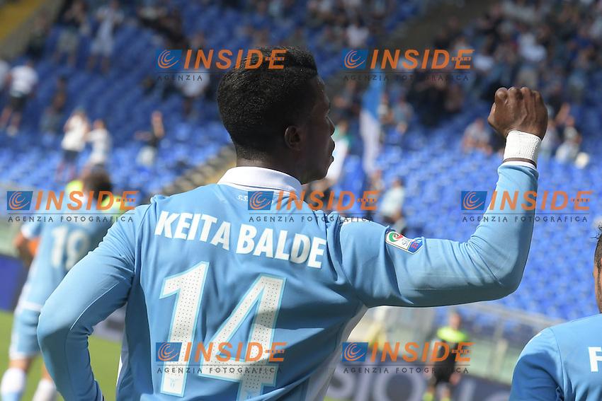Esultanza dopo il gol di Balde Diao Keita Lazio. Goal celebration.<br /> Roma 25-09-2016  Stadio Olimpico<br /> Campionato Serie A,<br /> Lazio - Empoli<br /> Foto Antonietta Baldassarre / Insidefoto