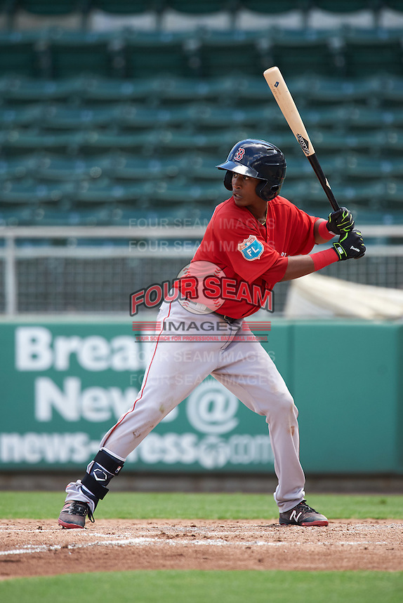 Boston Red Sox Yeison Coca (11) during an Instructional League game against the Minnesota Twins on September 23, 2016 at JetBlue Park at Fenway South in Fort Myers, Florida.  (Mike Janes/Four Seam Images)